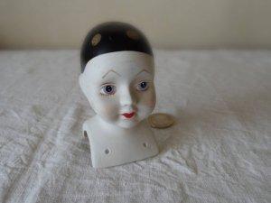 スウェーデン ドールヘッド 陶器  ハンドペイント sweden porcelain pottery doll head