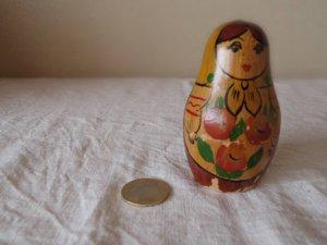 ヴィンテージ 水玉ショールのマトリョーシカ・VINTAGE OLD Matyoshka Russian nesting doll