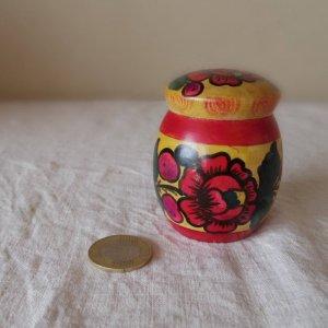 ロシア 民芸品 小物入れ・Russia small box case