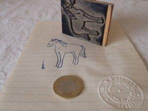 アメリカの古い教材ハンコ ポニー 子馬 usa vintage stamp seal pony