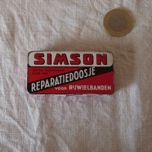 SIMSON リペアキット缶 カン ティン simson vintage tin