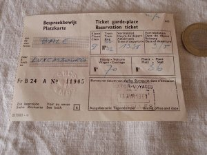 ベルギー 古い鉄道の切符 1961 belgium train ticket vintage paper papir
