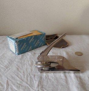 USA エンボッサー カンパニーシール ビンテージ company seal handy embosser
