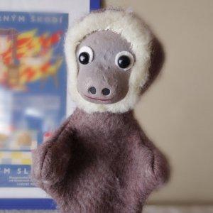 チェコ パペット(手人形) 猿 さる czech puppet monkey vintage