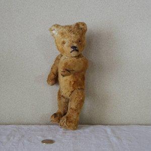 ハンガリー スリムな子 テディベアー プラスチックアイ ベージュ hungary teddy bear old vintage plastic eyes