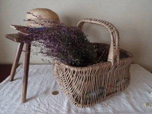 フランス ローズパニエ アンティーク バスケット カゴ バッグ france basket rose panier small vintage antiques