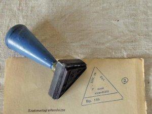 ハンガリー 医療系ハンコ 2 三角 (修正跡あり)hungary stamp medical triangle 2