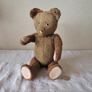 ハンガリー テディベアー プラスチックアイ グロウラー ブラウン hungary teddy bear old vintage growler brown