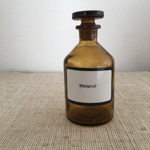 ハンガリー 医療系 薬瓶 小 3 hungary medicine bottle brown small