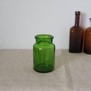 ベルギー グリーンのボトル 小さな花瓶 Belgium  bottle brown big