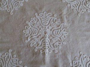 ルーマニア 刺繍 イーラーショシュ テーブルクロス タペストリー 正方形 白 Romania irasos cloth white