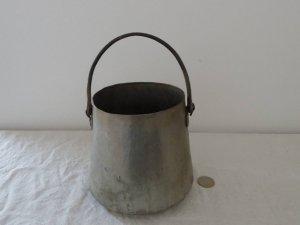 イタリア ラッテ ミルク 缶 バケツ 鍋 Italia handmade milk bucket pot pan