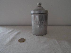 イタリア アルミ キャニスター 砂糖 Italia aluminum canister zucchero