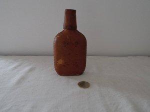 イタリア 革カバー スキットル フラスコ ボトル ウイスキー瓶  Italia leather hip flask skittle bottle
