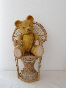 ハンガリー テディベアー プラスチックアイ グロウラー イエロー 2 hungary teddy bear old vintage growler yellow