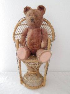 ハンガリー テディベアー プラスチックアイ ライトブラウン  hungary teddy bear old vintage light brown