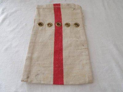 ハンガリー 社会主義時代 銀行集金袋 赤ライン 1 Hungary vintage bank bag