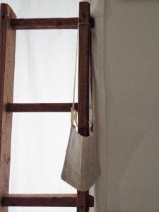 ハンガリー ビンテージ 手織りリネンのサコッシュ1 linen canbus sacosh