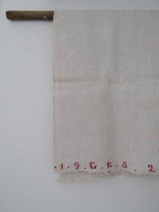 ルーマニア 手織り リネン 厚地クロス 126X94 1952年