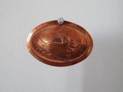 銅 焼き菓子型 オーバル 楕円 小 鶏 1・Copper Mold Mould oval small hen