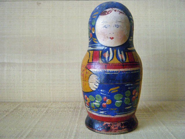 オールドマトリョーシカ・ANTIQUE VINTAGE OLD Matyoshka Russian nesting doll