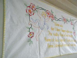 ŷ�Ȥλɽ��ϥ�ɥᥤ�ɥ��ڥ��ȥ꡼���ɥ��ġ�angel handmade embroidery tapestry germany