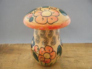 オールドマトリョーシカ キノコの靴下直し・ANTIQUE VINTAGE OLD Matyoshka Russian nesting doll mushroom