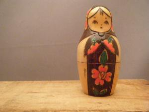 ビンテージ 日本の「こけし」みたいなマトリョーシカ・ANTIQUE VINTAGE OLD Matyoshka Russian nesting doll japanese kokeshi
