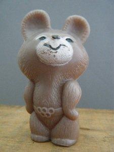 ハンガリー蚤の市 こぐまのミーシャ ミニプラスチックドール・hungary_moscow_olympic_1980_mishka_misha_plastic_doll figure