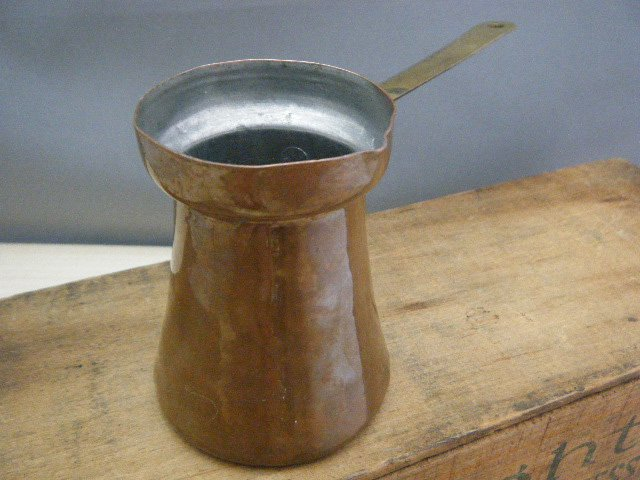 ベルギー蚤の市 銅のバターメルター・ANTIQUE VINTAGE OLD bergium butter melter copper