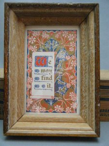 ベルギー 木製 古い額  小  bergium photo picture frame wood small thick