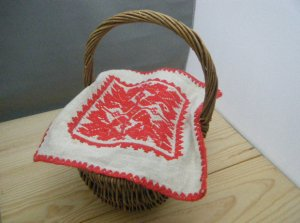 ハンガリー 古いトランシルヴァニア地方の伝統模様フォークロア刺繍小さなタペストリー(イーラーショシュ糸使用 小2)