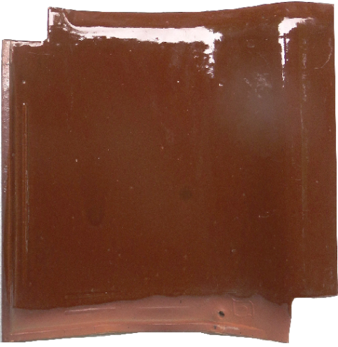 【中古】J形53Aチョコレート桟瓦8枚セット