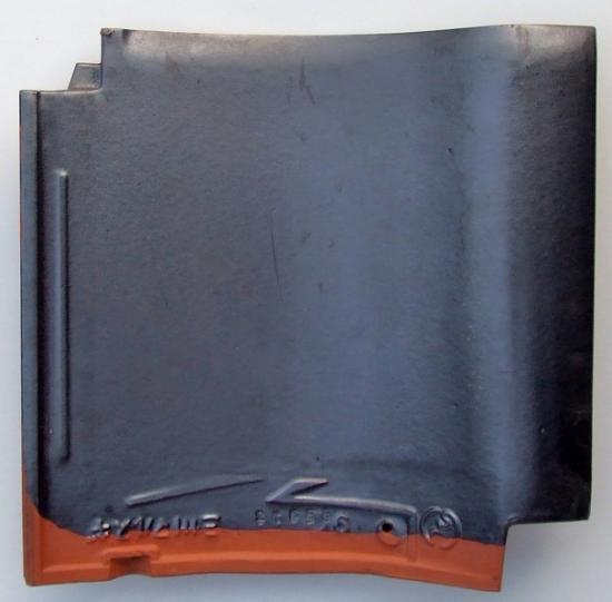 【中古】J形53A銀黒桟瓦(防災瓦)8枚セット