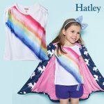 <img class='new_mark_img1' src='https://img.shop-pro.jp/img/new/icons14.gif' style='border:none;display:inline;margin:0px;padding:0px;width:auto;' />Hatley ハットレイ Tシャツ レインボー 虹 綿100%