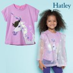 <img class='new_mark_img1' src='https://img.shop-pro.jp/img/new/icons14.gif' style='border:none;display:inline;margin:0px;padding:0px;width:auto;' />Hatley ハットレイ Tシャツ スパンコール ユニコーン 女の子 綿100%