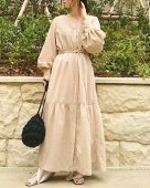 <img class='new_mark_img1' src='//img.shop-pro.jp/img/new/icons11.gif' style='border:none;display:inline;margin:0px;padding:0px;width:auto;' />Volume Sleeve Long Dress