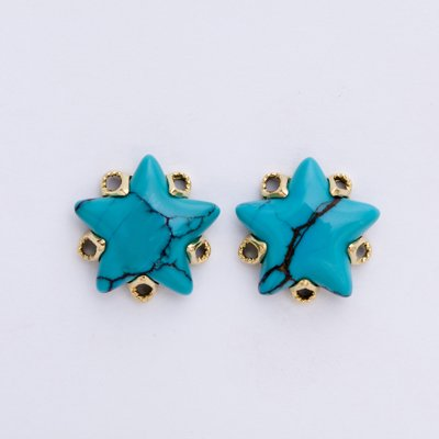 STAR TURQUOISE pirrced earrings