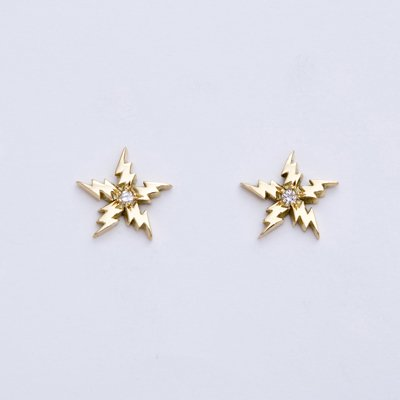 FLASH STAR DIA pierced earrings