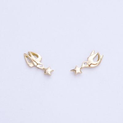 LUCKY SWALLOWS DIA pierced earrings