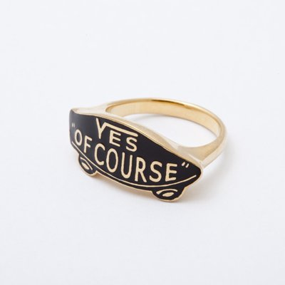 YES OF COURSE ring gold