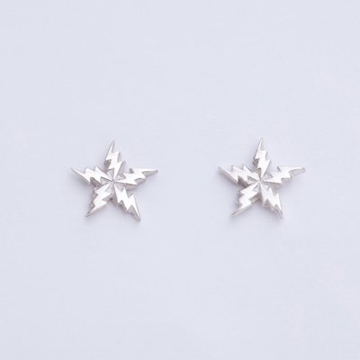 FLASH STAR SV pierced earrings