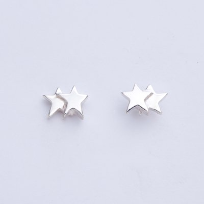 2 STARS SV pierced earrings