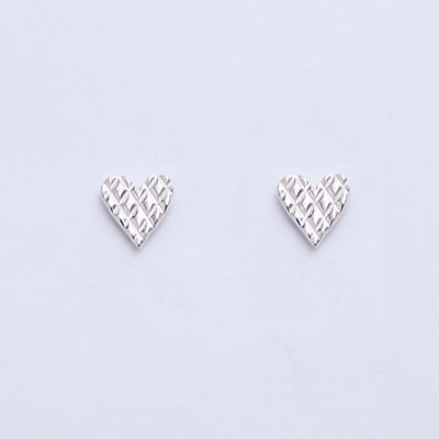 QUILTING HEART SV pierced earrings