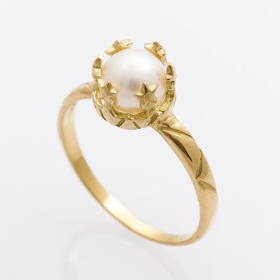 STAR CROWN PEARL ring