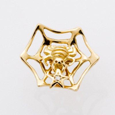 SPIDER DIA W/WEB pierced earrings