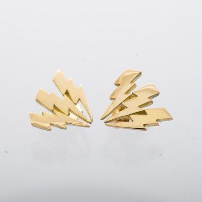 3 flash pierced earrings
