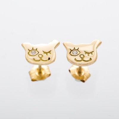 I LOVE CAT  pierced earrings