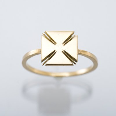 HAWK IRON CROSS ring