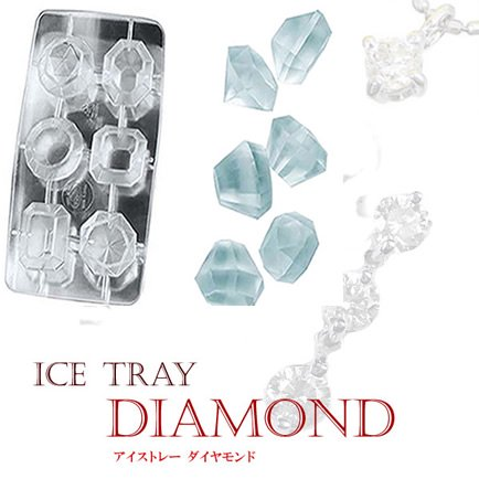 楽しく水分制限 ダイヤの製氷皿